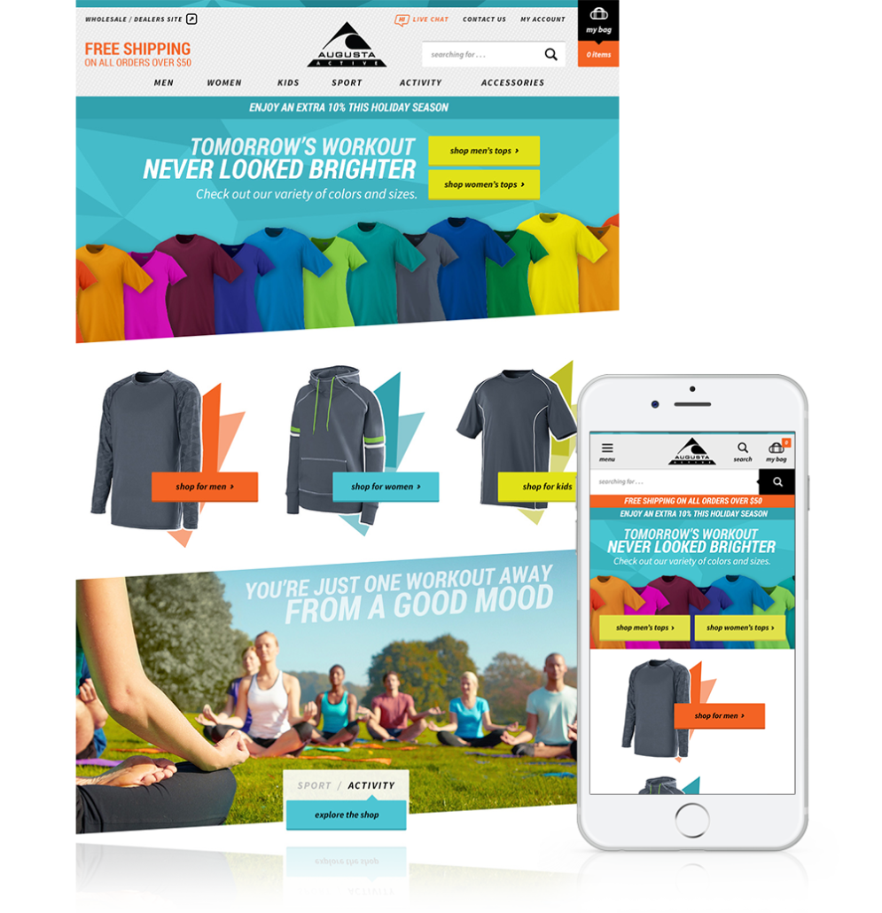 Augusta Active Responsive Website